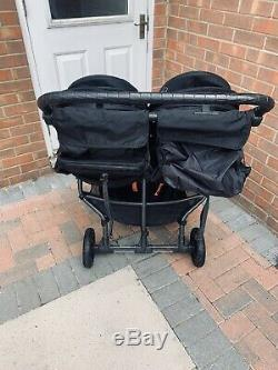 2014 baby jogger city mini gt double Black Twin Pram