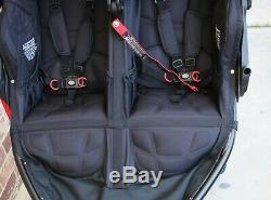 2019Bob Revolution Flex 3.0 DuallieTwin Baby Double StrollerBlack Jogger