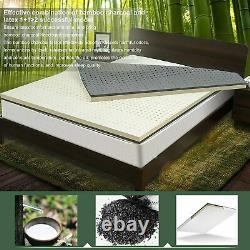 2021 Nesaila Bamboo Charcoal Latex Mattress Topper Twin 3.15 inch Double Layer