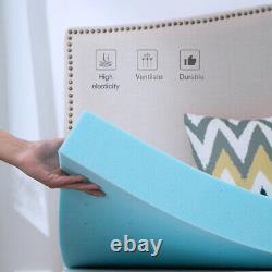 2'' 3'' or 4'' Blue Memory Foam Mattress Topper Gel Infused Queen King Twin Full