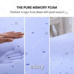 2.5''/3''/4'' Comfort Gel Memory Foam Mattress Topper Dot- Queen King Twin Full