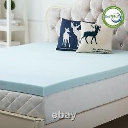2.5/3 Inch Memory Foam Mattress Topper Lavender Gel Bed Full Queen King Twin