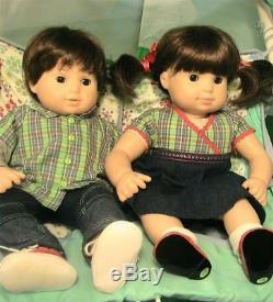 American Girl Bitty Baby Twins and Double Stroller Nice, Hard to Find