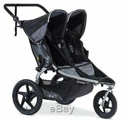 BOB 2018 Revolution Flex Duallie Twin Double 2.0 Jogging Baby Stroller in Black