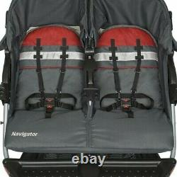 Baby Boy Double Stroller with Car Seats Twins Combo Set