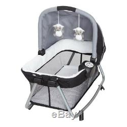 Baby Combo Double Stroller Twins Nursery Center with Portable Bassinets 2 Swings