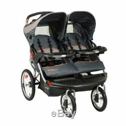 Baby Double Jogging Stroller Twins Push Child Seat Car Seats MP3 Speakers Plug