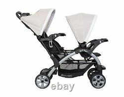 Baby Double Stroller Travel System with 2 Car Seats Playard Twin Combo Set