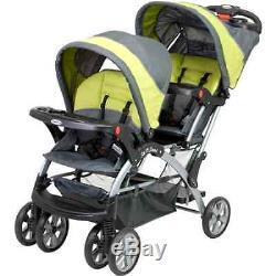 Baby Double Stroller Twin Infant Kids Carrier Car Seat Sit Stand 2 Seater Canopy