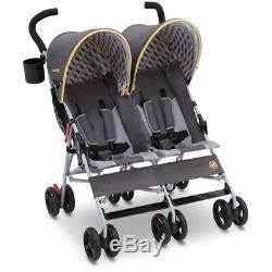 Baby Double Stroller Twin Umbrella Canopy Lightweight Reclining 5 Point Belt New