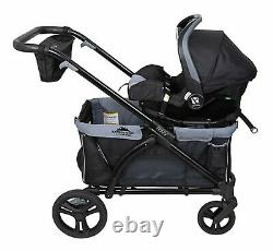 Baby Double Stroller Wagon 2 in 1 Expedition Pro Infant Toddler Twin -Black
