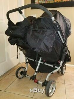 Baby Jogger City Mini Double Twin Standard Double Seat Stroller, Black
