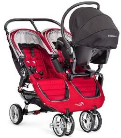 Baby Jogger City Mini Double Twin Stroller Evergreen / Gray NEW