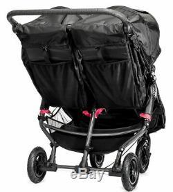 Baby Jogger City Mini GT Double Twin All Terrain Stroller Crimson Gray NEW
