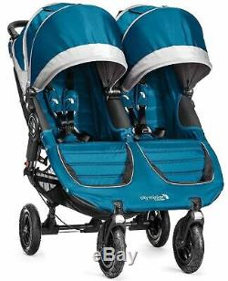 Baby Jogger City Mini GT Double Twin All Terrain Stroller Teal/Gray New In Box
