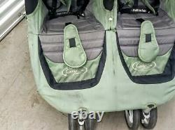 Baby Jogger City Mini Twin Standard Double Seat Stroller -Green & Gray