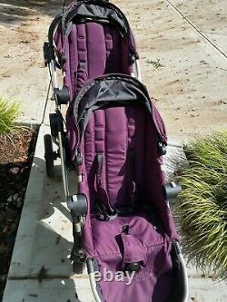 Baby Jogger City Select Lux Double Stroller Pram With 2nd Seat PERFECT Twins