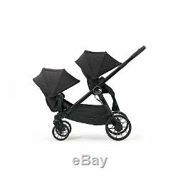 Baby Jogger City Select Lux Tandem Twin Double Stroller with 2nd Seat, Granite