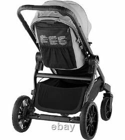 Baby Jogger City Select Lux Twin Double Stroller w Second Seat Slate OPEN BOX
