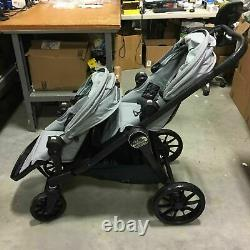 Baby Jogger City Select Lux Twin Tandem Double Baby Stroller + Second Seat Slate
