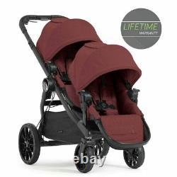 Baby Jogger City Select Lux Twin Tandem Double Stroller with Second Seat Port NEW