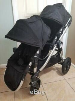 Baby Jogger City Select Twin Double Stroller, Black