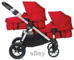 Baby Jogger City Select Twin Double Stroller Paloma w Second Seat Bassinet