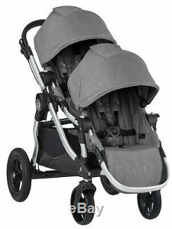 Baby Jogger City Select Twin Double Stroller Slate w Second Seat & Bassinet