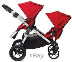 Baby Jogger City Select Twin Double Stroller Slate w Second Seat & Bassinet 2019