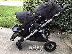 Baby Jogger City Select Twin Double Stroller with Second Seat & snack tray black