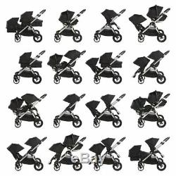 Baby Jogger City Select Twin Tandem Double Stroller Anniversary w Second Seat