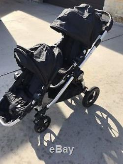 Baby Jogger City Select Twin Tandem Double Stroller Black