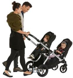 Baby Jogger City Select Twin Tandem Double Stroller Ruby w Second Seat NEW