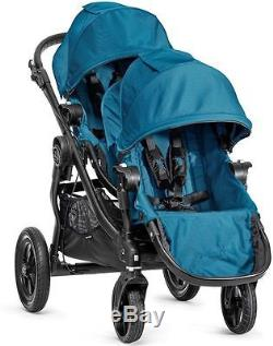 Baby Jogger City Select Twin Tandem Double Stroller Teal with Second Seat NEW