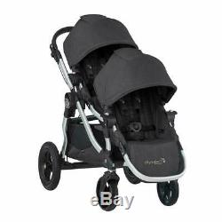 Baby Jogger City Select Twin Tandem Double Stroller with Second Seat Jet 2019
