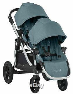 Baby Jogger City Select Twin Tandem Double Stroller with Second Seat Lagoon