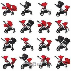 Baby Jogger City Select Twin Tandem Double Stroller with Second Seat Lagoon 2019