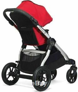 Baby Jogger City Select Twin Tandem Double Stroller with Second Seat Moonlight