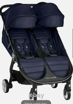 Baby Jogger City Tour 2 Twin Double Compact Fold Travel Stroller Seacrest NEW