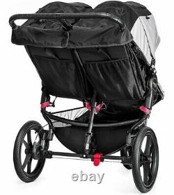 Baby Jogger Double Stroller Summit X3 Twin Infant Jogging Buggy Gray/Black