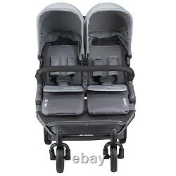 Baby Monsters Easy Twin 3.0S Double Stroller in Heather Grey New