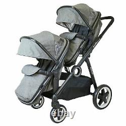 Baby Pram System Double Twin Travel Tandem Pushchair Buggy Stroller -Harmony New