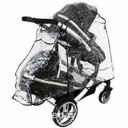 Baby Pram System & In Line Tandem Lightweight + Second Seat + Raincover