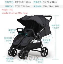 Baby Stroller Jogger City Twins Tandem Double Seat High View Folding