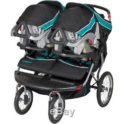 Baby Trend Double Jogger Stroller Reclining Dual Toddler Baby Twin Seat