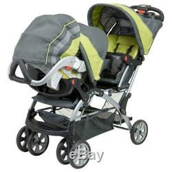 Baby Trend Double Stroller with 2 matching Car Seats Combo Travel System Sets