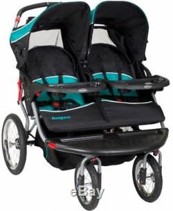 Baby Trend Navigator Double Jogger Stroller Tropic Baby Child Twin Kids Best New
