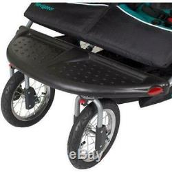 Baby Trend Navigator Twin Double Jogging Stroller Tropic Padded Front NEW