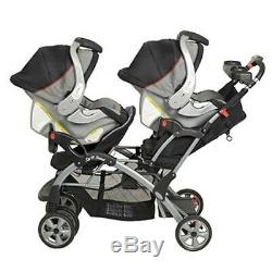 Baby Trend Sit N Stand Plus Double Stroller Gray Black Millennium 2 Babies Twins