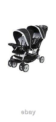 Baby Trend Sit-N-Stand Twin Tandem 2-Seat Double Stroller, Stormy (Open Box)